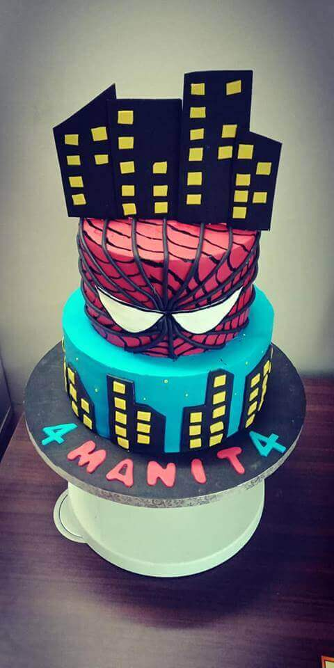 spiderman cake hyderabad,spiderman cake for boys,fondant cake hyderabad,birthday cakes hyderabad,birthday cake for boys hyd